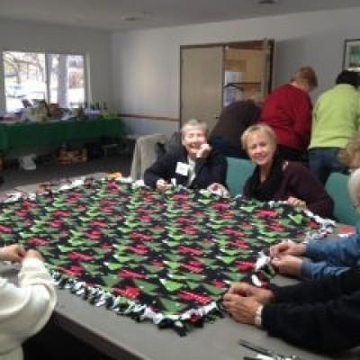 Women's Weekend Making Blankets for Maryland