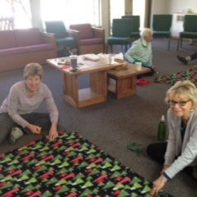 The Women's Fellowship helped to make blankets for Marklund Home