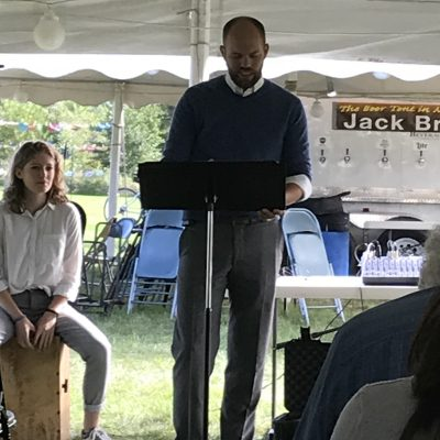 Pastor Josh welcomes all to 1st annual Tent Revival 9/9/18