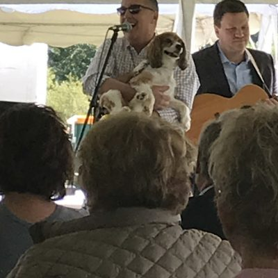Pastor Dave and Sugar lead outdoor worship in prayer 9/9/18